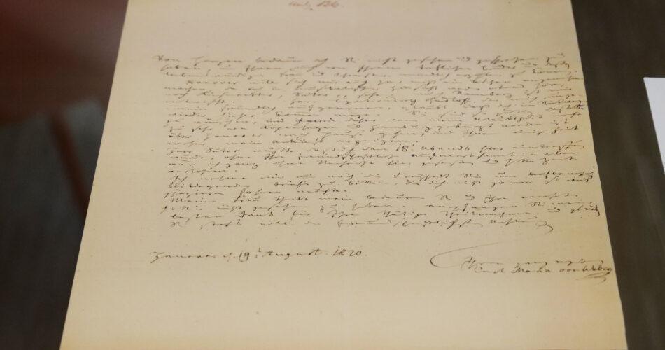 Brief von Carl-Maria-von Weber an Berhnhard Hausmann